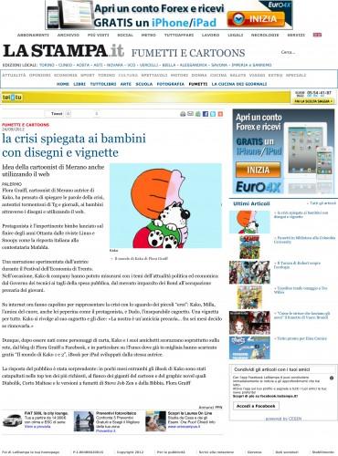 La Stampa - la crisi spiegata ai bambini con disegni e vignette.jpg